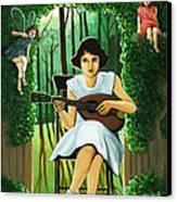 Secret Garden Fantasy Fairy Canvas Print by Linda Apple