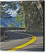 Section Of Columbia River Gorge Canvas Print by Tatiana Boyle