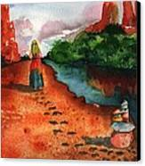 Sedona Arizona Spiritual Vortex Zen Encounter Canvas Print by Sharon Mick
