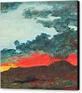 Sedona Sunset Canvas Print by Sandy Tracey