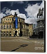 Semper Opera House Dresden - A Beautiful Sight Canvas Print by Christine Till