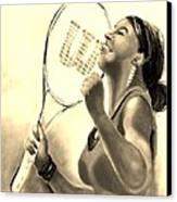 Serena In Sepia Canvas Print by Carol Allen Anfinsen