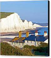 Seven Sisters Cottage View Canvas Print by Michael Stretton