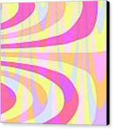 Seventies Swirls Canvas Print by Louisa Knight