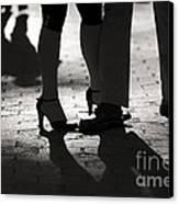 Shadows Of Tango Canvas Print by Leslie Leda