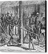 Shaka Slave Market In Africa Canvas Print by Everett