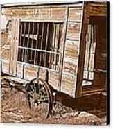 Shaniko Paddy Wagon Canvas Print by Cindy Wright