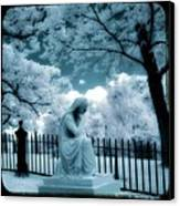 She Dreams In Blue Canvas Print by Gothicolors Donna Snyder
