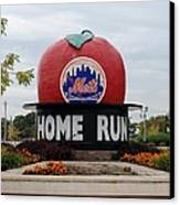 Shea Stadium Home Run Apple Canvas Print by Rob Hans