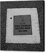 Shea Stadium Second Base Canvas Print by Rob Hans