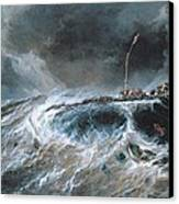 Shipwreck Canvas Print by Louis Isabey