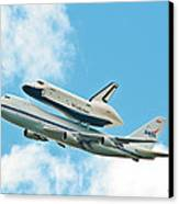 Shuttle Enterprise Comes To Ny Canvas Print by Regina Geoghan