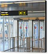 Sign Leading To Baggage Claim Canvas Print by Jaak Nilson