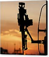Silhouette Of A M240g Medium Machine Canvas Print by Terry Moore