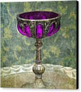 Silver Chalice With Jewels Canvas Print by Jill Battaglia