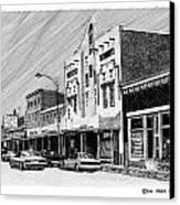Silver City New Mexico Canvas Print by Jack Pumphrey