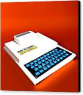 Sinclair Zx80 Personal Computer Canvas Print by Christian Darkin