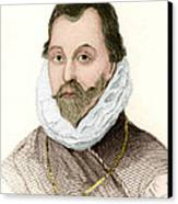 Sir Francis Drake, English Explorer Canvas Print by Sheila Terry
