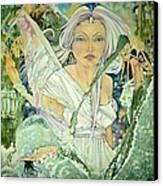 Sister Angel Canvas Print by Jackie Rock