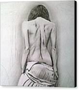 Skirt II Canvas Print by Paula Steffensen