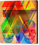 Skulls And Skulls Canvas Print by Pierre Louis
