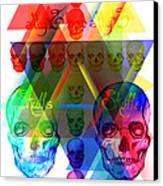 Skulls Illuminate Skulls Canvas Print by Pierre Louis