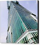 Skyscraper, Taipei 101 Building Canvas Print by Jeremy Woodhouse