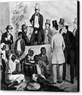Slavery Auction, In The United States Canvas Print by Everett