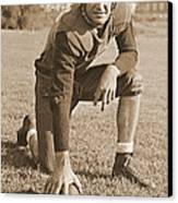 Slingin' Sammy Baugh 1937 Sepia Canvas Print by Padre Art