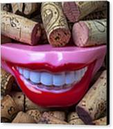 Smile Among Wine Corks Canvas Print by Garry Gay