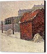 Snow Butte Montmartre Canvas Print by Paul Signac