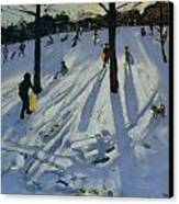 Snow Rykneld Park Derby Canvas Print by Andrew Macara