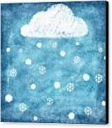 Snow Winter Canvas Print by Setsiri Silapasuwanchai