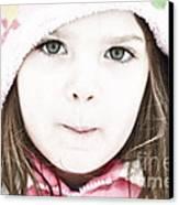 Snowy Innocence Canvas Print by Gwyn Newcombe