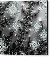 Snowy Night II Fractal Canvas Print by Betsy Knapp