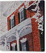 Snowy Yesteryear Canvas Print by Patsy Sharpe