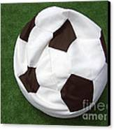 Soccer Ball Seat Cushion Canvas Print by Matthias Hauser