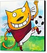 Soccer Cat 2 Canvas Print by Scott Nelson