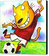 Soccer Cat Canvas Print by Scott Nelson