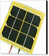 Solar Cell Canvas Print by Friedrich Saurer