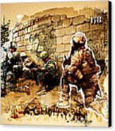 Soldiers On The Wall Canvas Print by Jeff Steed
