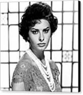 Sophia Loren, Circa 1950s Canvas Print by Everett