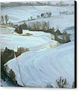 South Limburg Covered With Snow Canvas Print by Nop Briex