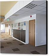 Spacious Office Hallway Canvas Print by Jaak Nilson