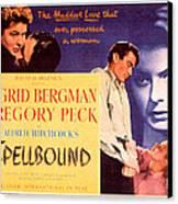 Spellbound, Ingrid Bergman, Gregory Canvas Print by Everett