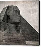 Sphinx Vintage Photo Canvas Print by Jane Rix