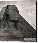 Sphinx Vintage Photo Canvas Print by Jane Rix