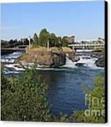 Spokane Falls Hdr Canvas Print by Carol Groenen