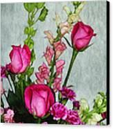 Spray Of Flowers Canvas Print by Judi Bagwell