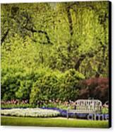 Spring Garden Canvas Print by Cheryl Davis
